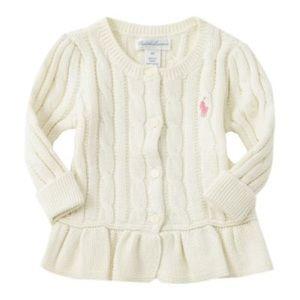 Ralph Lauren Baby Peplum Sweater 3M